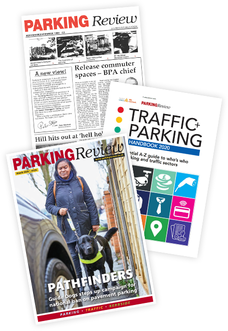 A history of front covers for Parking Review magazine